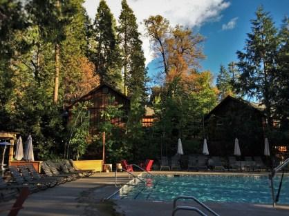 Pool area at Evergreen Lodge at Yosemite 2traveldads.com