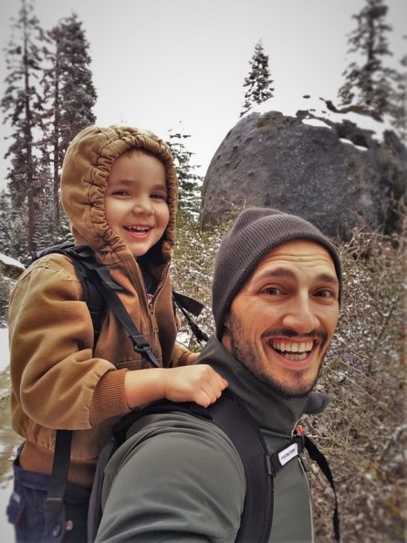 Rob Taylor and LittleMan using Piggyback Rider Wuksachi Lodge in Sequoia National Park 3