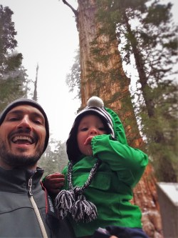 Rob Taylor and TinyMan at General Sherman Tree trails in Sequoia National Park 1