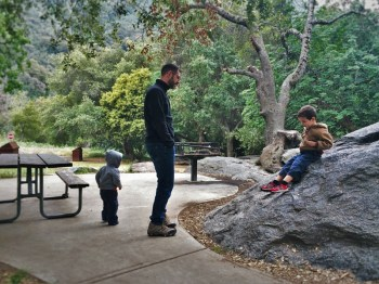 Taylor Family at Hospital Rock in Sequoia National Park with Kids 2traveldads.com