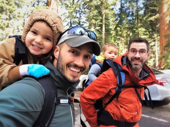 Taylor Family hiking in Giant Forest in Sequoia National Park 1