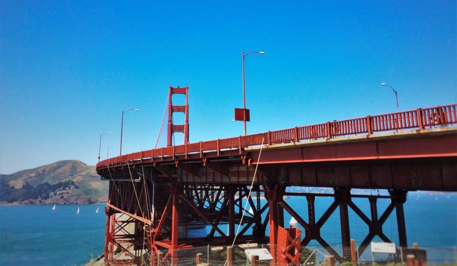 West side of Golden Gate Bridge from Welcome Center GGNRA 1