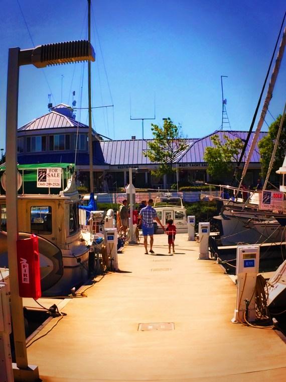 Chris Taylor and Kids in Cap Sante Marina Anacortes 1