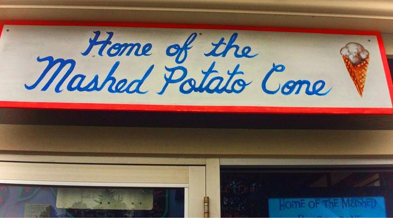 Home of the Mashed Potato Cone at Trinidad Head Lighthouse Cafe 2traveldads.com