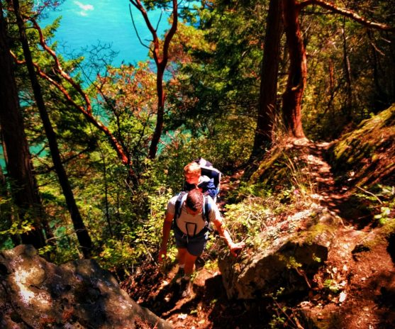 FE Chris Taylor hiking at Deception Pass State Park Whidbey Island 1