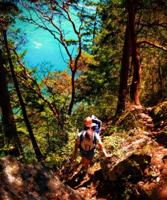 Chris Taylor hiking at Deception Pass State Park Whidbey Island 1