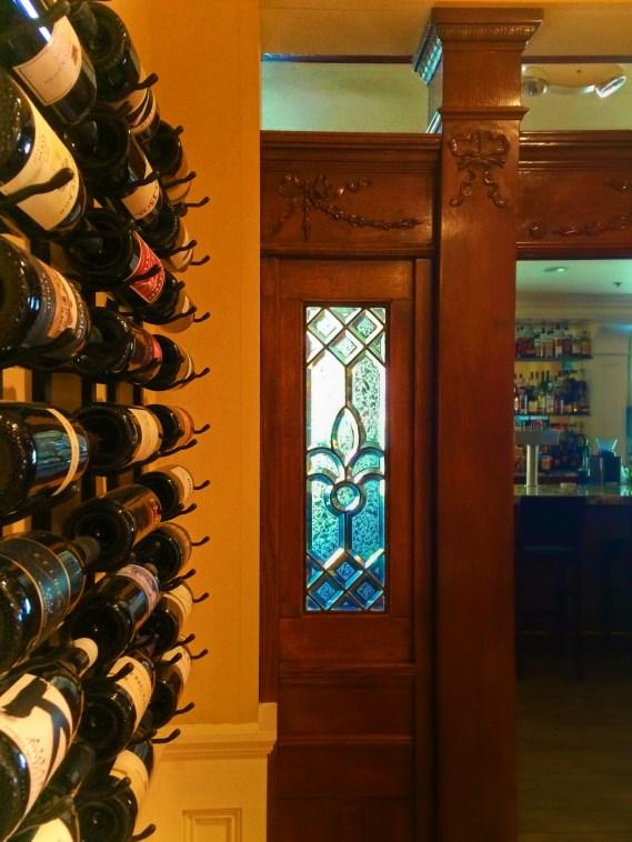 Hotel Bar at Majestic Inn Anacortes beveled glass 1e