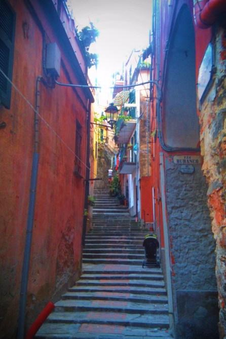 Narrow Stairway in Cinque Terre Italy 1e
