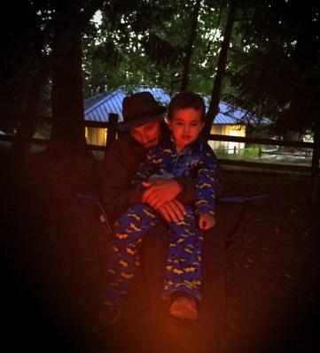 Rob Taylor and LittleMan at Campfire at Washington Park Anacortes 1