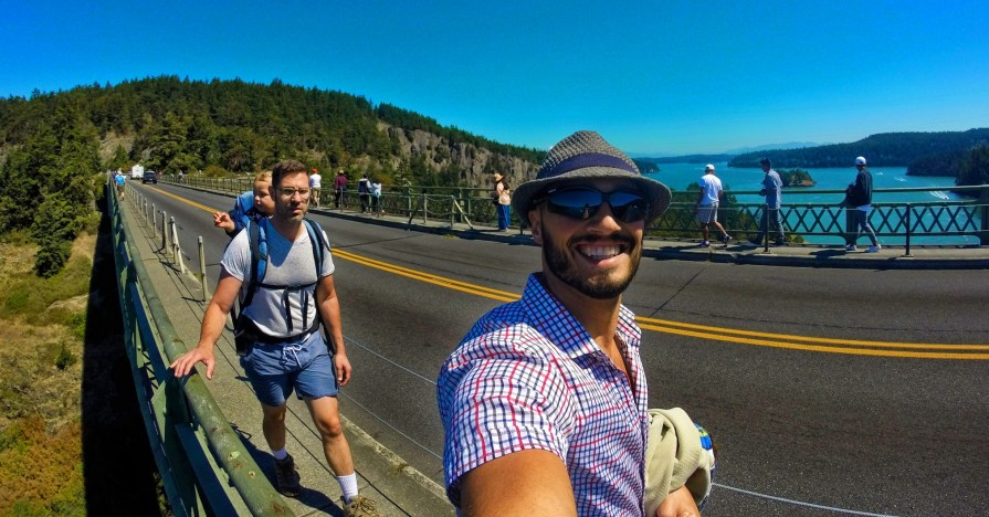 Taylor Family on Deception Pass Bridge