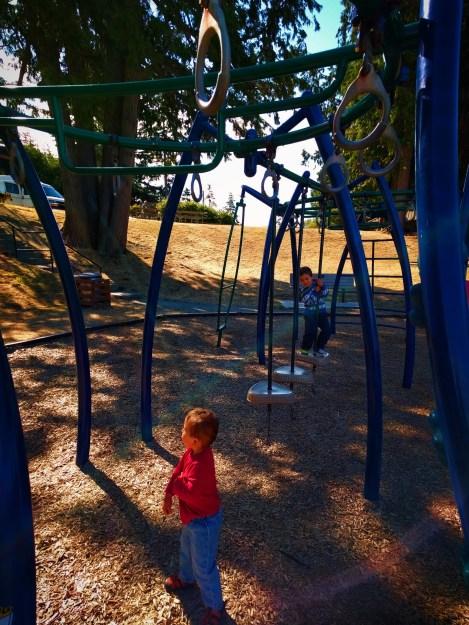 Taylor Kids on playground at Washington Park Anacortes