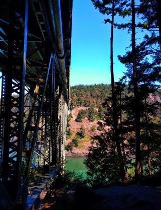View of Deception Pass Bridge Deception Pass State Park Whidbey Island 3