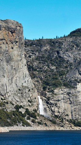 Wapama Falls across Hetch Hetchy Reservoir Yosemite National Park