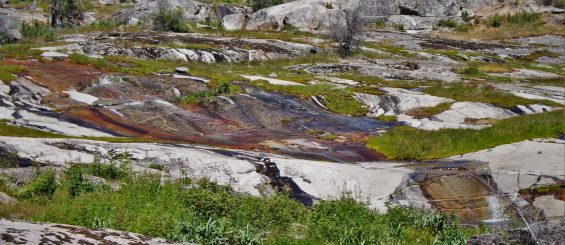 Water flowing over granite at Hetch Hetchy Yosemite National Park 1