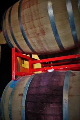 Wine Barrels at Family Friendly Wine Tasting at AniChe Cellars Underwood Columbia River Gorge 1