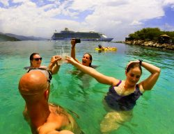Snorkeling with drinks in Labadee Haiti
