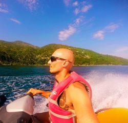 Rob Taylor on Jet skis on wave runner tour Labadee Haiti 1