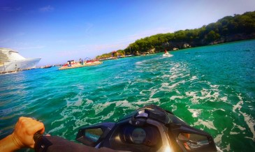 Jet skis on wave runner tour Labadee Haiti 3