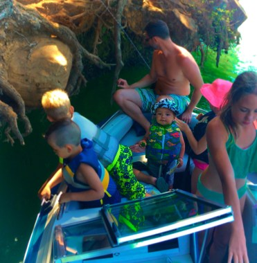 Taylor Family Reunion boat trip Lake Cushman