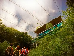 Practice platform for Worlds Longest Zip Line Labadee Haiti 1