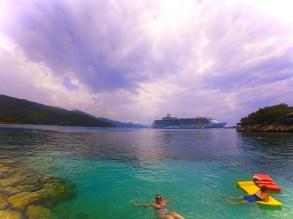 Royal Caribbean Oasis of the Seas in port in Labadee Haiti 2