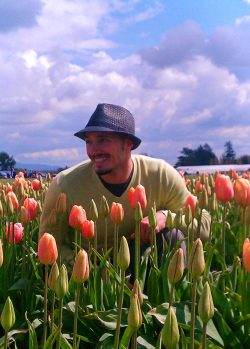 Rob Taylor in Tulip Fields La Connor Skagit Valley 1