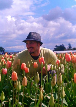 Rob Taylor in Tulip Fields La Connor Skagit Valley 1
