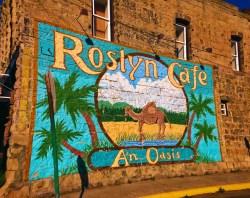 Roslyn Cafe Mural Sign 1