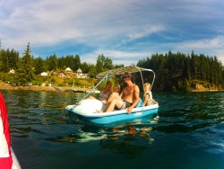 Taylor Family on Paddleboat Lake Cushman