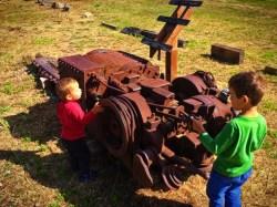 Taylor Kids at Roslyn Museum Coal train 2