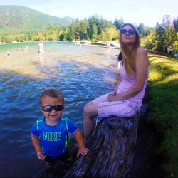 Taylor Kids at Lake Cushman beach 3