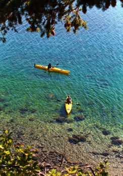 Kayakers on Ship Bay Orcas Island 2