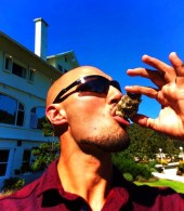Rob Taylor eating oyster at Rosario Resort Orcas Island Pretty Fork Destination Dining 1