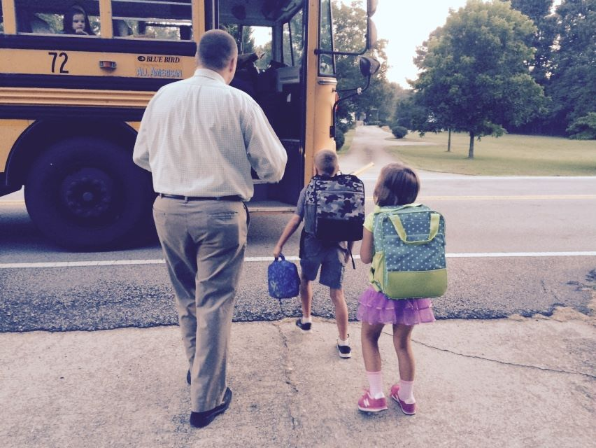 Sending kids to school 8