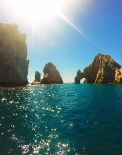 El Arco from catamaran snorkeling in Cabo San Lucas