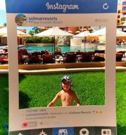Instagram frame at Playa Grande Cabo San Lucas