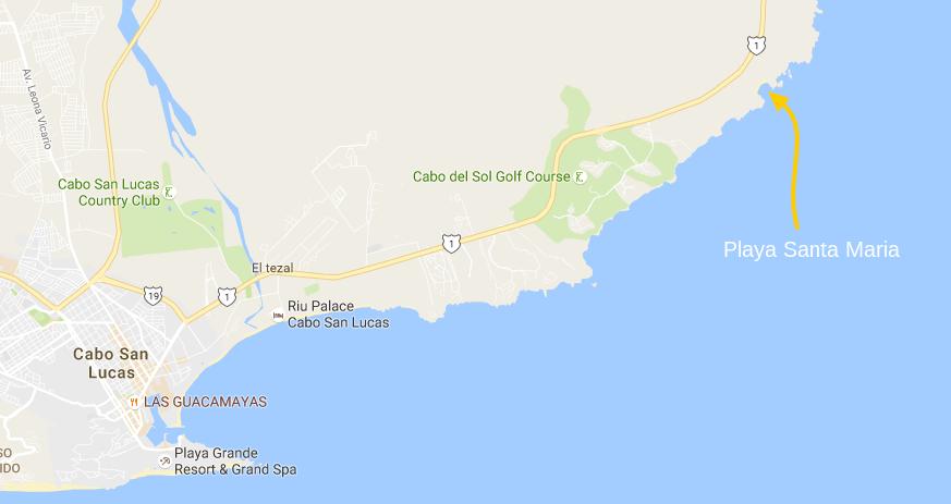 Playa Santa Maria Beach Cabo San Lucas Map