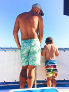 Rob Taylor and LittleMan on snorkeling cruise Cabo San Lucas