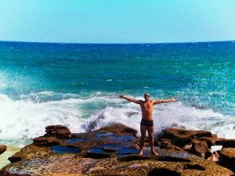 Rob Taylor at East Cape beach 1