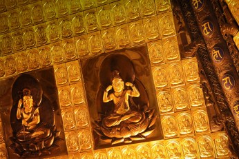 Golden Gilded Buddhas in Famen Temple Pagoda 1