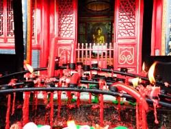 Melting candles at Famen Temple 1
