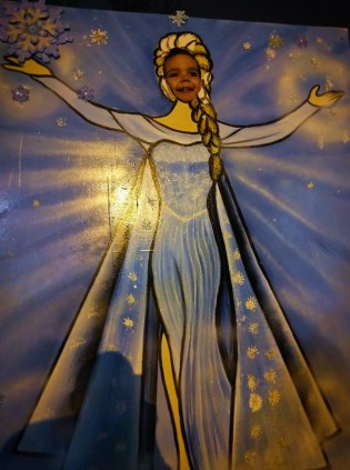 Oliver as Queen Elsa at Lights of Life Marietta Georgia 1