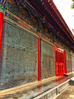 Outter walls of Famen Temple Colorful China 1