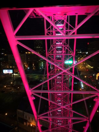 Skyview Atlanta ferris wheel at night 4
