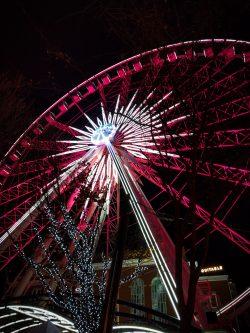 Skyview Atlanta ferris wheel at night 5