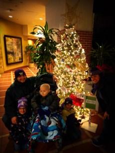 Taylor Family with Pediatric Brain Tumor Christmas Tree Atlanta Festival of Trees 1