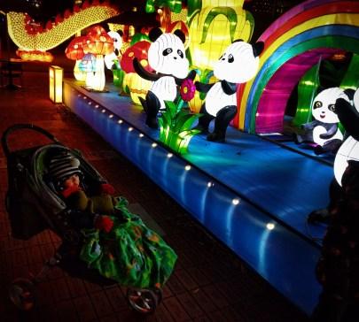 Taylor Kids with Pandas at Chinese Lantern Festival Atlanta 2