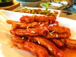 Vegetarian sweet and sour chicken Buddhist Restaurant Famen Temple 1