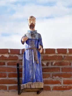 Carved wooden saint in Todos Santos Baja California Sur 1
