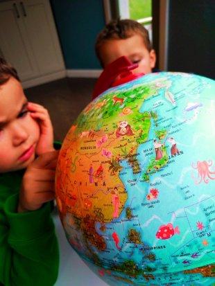 2TD Kids with globe 1